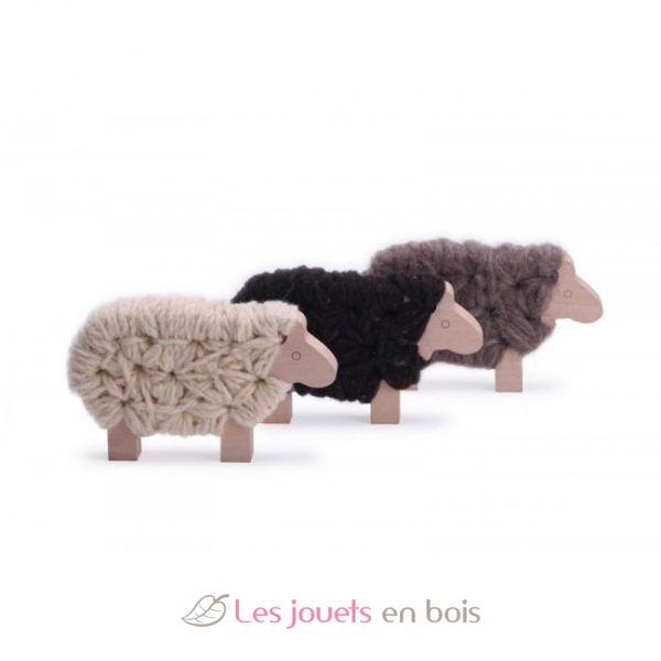 Les Jouets Libres Woody Le Mouton Cru Tricoter