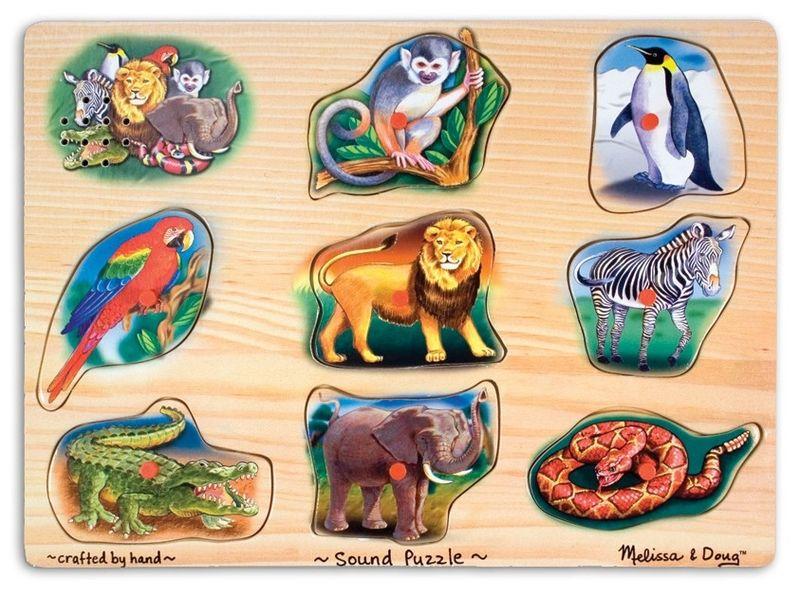Puzzle Sonore animaux du zoo