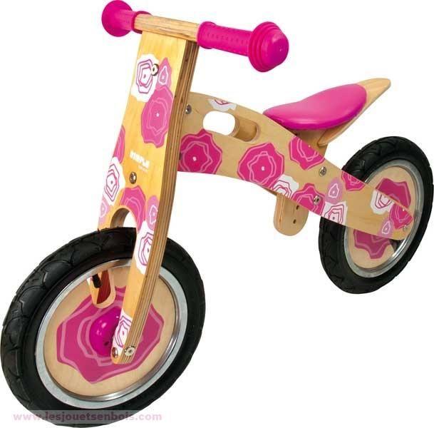 Vélo en bois Draisienne rose
