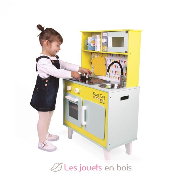 cuisine happy day janod 06564 cuisine en bois pour enfant. Black Bedroom Furniture Sets. Home Design Ideas
