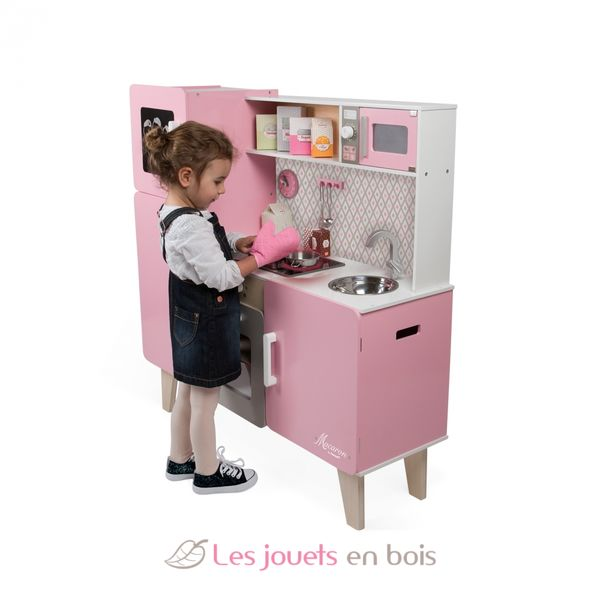 grande cuisine macaron janod 06571 cuisine en bois pour enfant. Black Bedroom Furniture Sets. Home Design Ideas