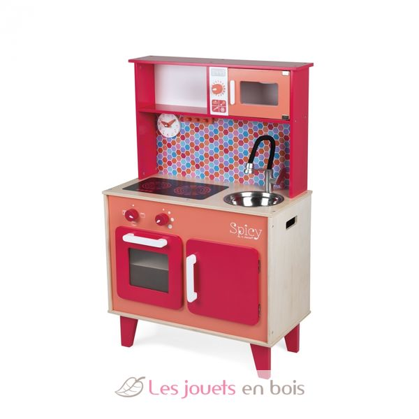 cuisine spicy janod 06573 cuisine en bois pour enfant. Black Bedroom Furniture Sets. Home Design Ideas