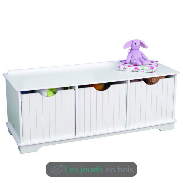 banc de rangement blanc nantucket kidkraft 14564. Black Bedroom Furniture Sets. Home Design Ideas