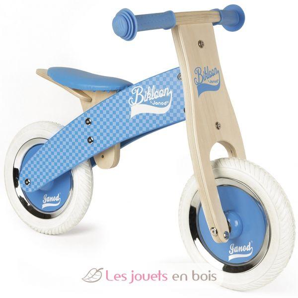 draisienne little bikloon bleue janod 3258 v lo en bois sans p dales pour enfant. Black Bedroom Furniture Sets. Home Design Ideas