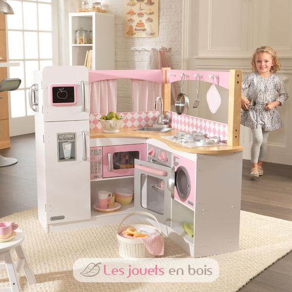 kidkraft cuisine en bois grand gourmet jolie cuisine en bois pour petite fille kidkraft. Black Bedroom Furniture Sets. Home Design Ideas