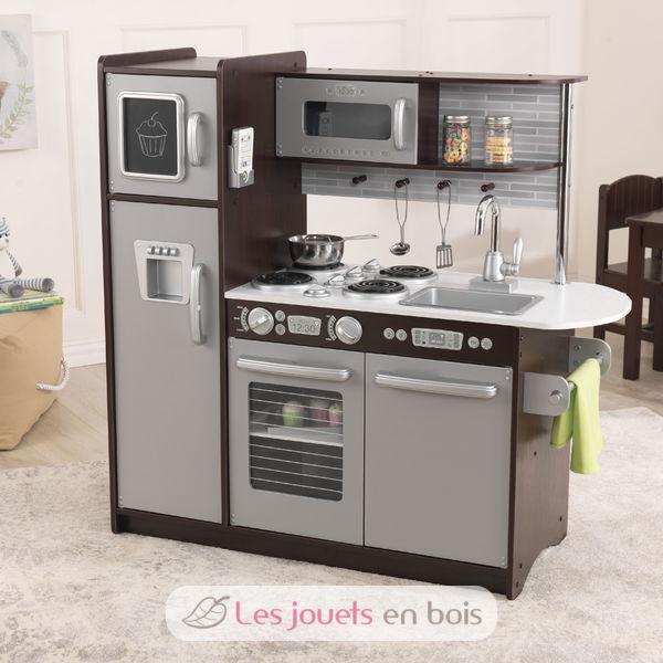 kidkraft cuisine uptown expresso 53260 en bois pour petite fille et petit gar on kidkraft. Black Bedroom Furniture Sets. Home Design Ideas