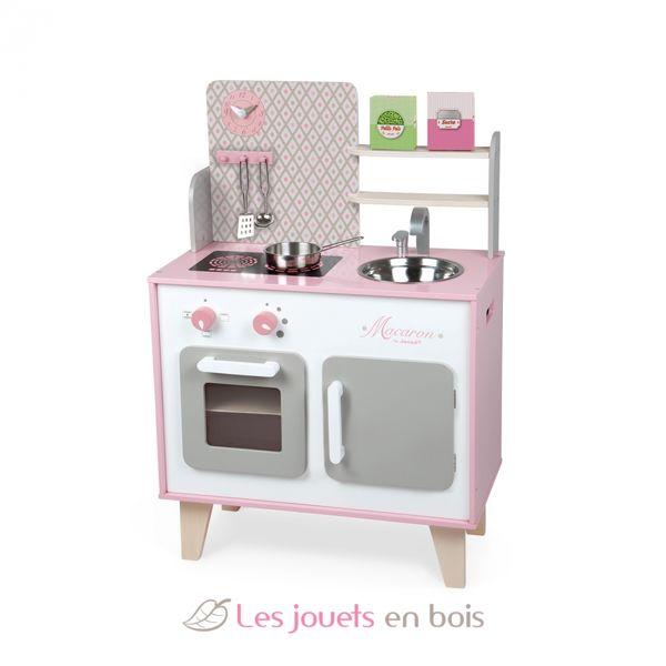 Maxi Cuisine Macaron Janod 06567 Cuisine En Bois Pour Enfant