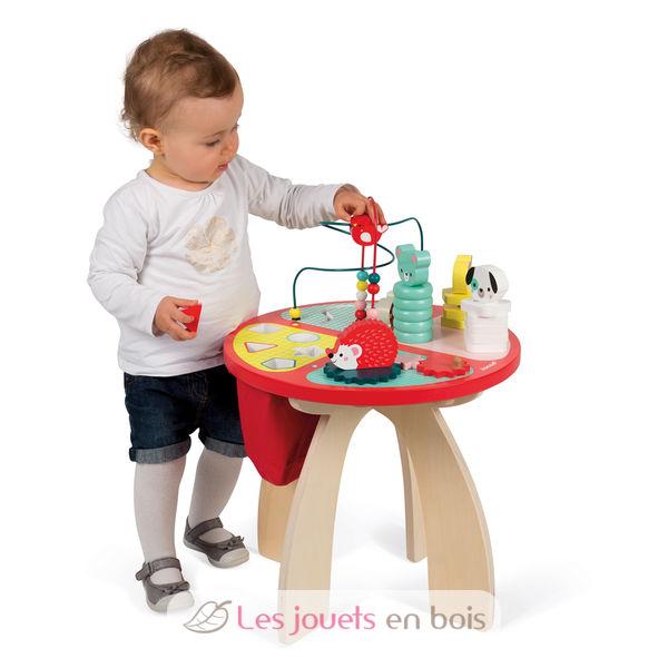 table d 39 activit s baby forest en bois de la marque janod r f 08018. Black Bedroom Furniture Sets. Home Design Ideas