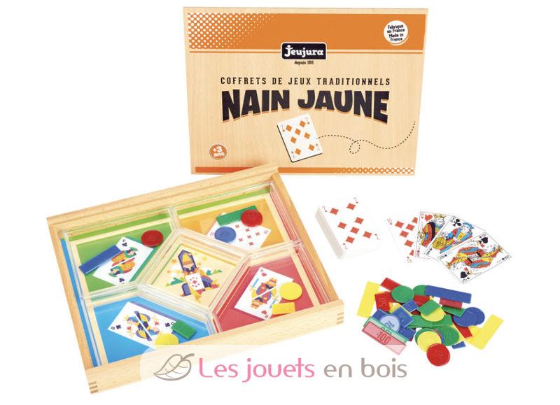 Jeu du Nain Jaune - Coffret en bois Jeujura 8134 - Coffret Jeu de Société