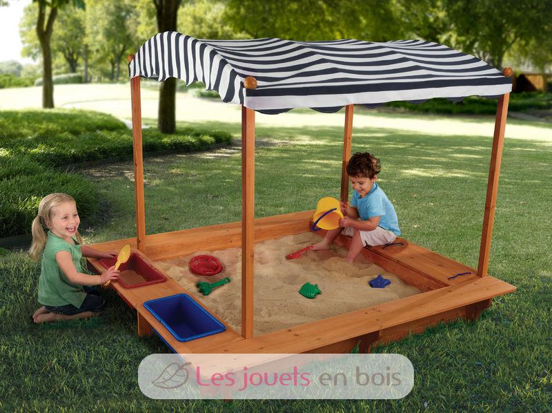 bac sable avec tonnelle kidkraft 00165 un bac sable original pour enfant. Black Bedroom Furniture Sets. Home Design Ideas