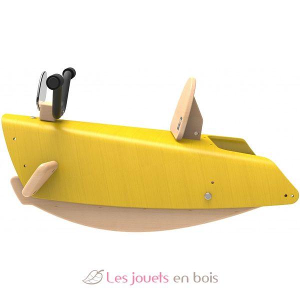bascule moto 2 en 1 jaune chou du volant bascule en bois pour enfant. Black Bedroom Furniture Sets. Home Design Ideas