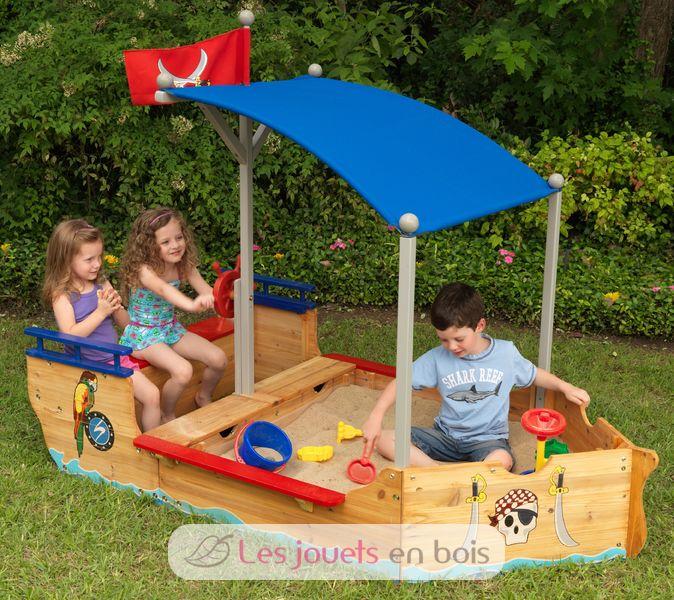 bateau pirate des sables kidkraft 00128 un bac sable original pour enfant. Black Bedroom Furniture Sets. Home Design Ideas