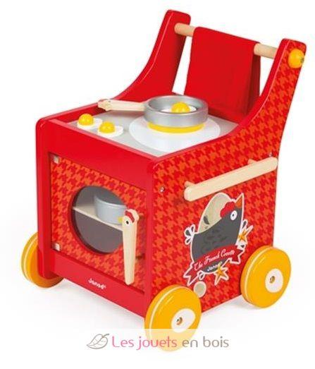 chariot de cuisine the french cocotte janod j06544. Black Bedroom Furniture Sets. Home Design Ideas