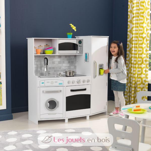 kidkraft 53369 grande cuisine avec sons et lumi res jolie cuisine en bois pour enfant. Black Bedroom Furniture Sets. Home Design Ideas
