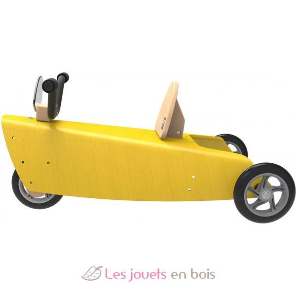 porteur moto 2 en 1 jaune chou du volant porteur et chariot de marche en bois pour enfant. Black Bedroom Furniture Sets. Home Design Ideas