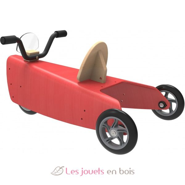 porteur moto 2 en 1 rouge chou du volant porteur et chariot de marche en bois pour enfant. Black Bedroom Furniture Sets. Home Design Ideas