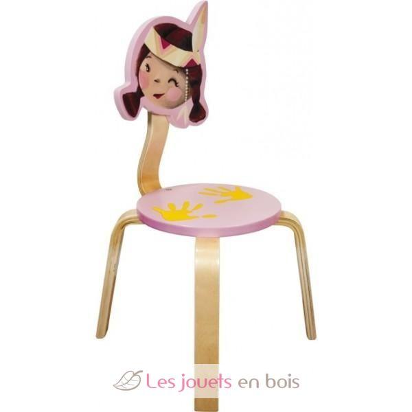 Chaise pour enfant petit princesse indienne en bois une - Petite chaise en bois pour bebe ...