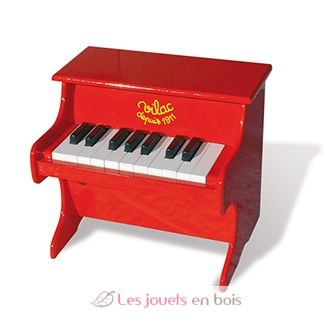 piano rouge laqu en bois piano un instrument de musique vilac r f 8317. Black Bedroom Furniture Sets. Home Design Ideas