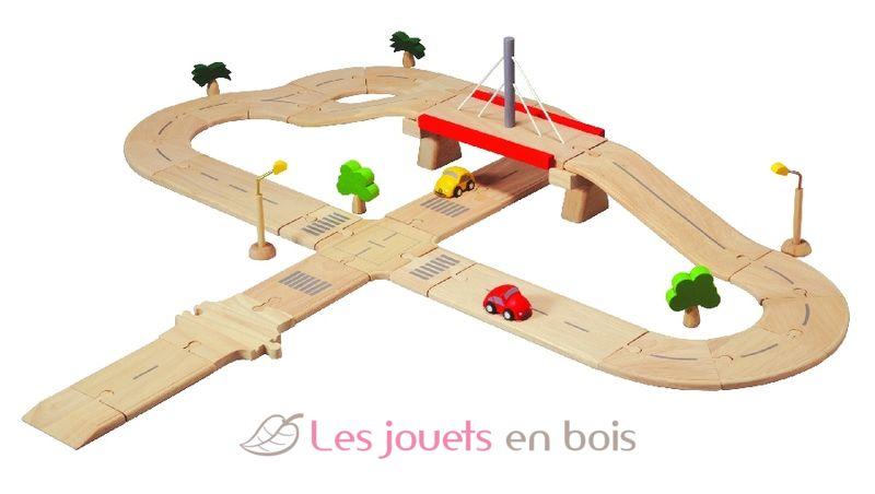 circuit routier plantoys un circuit en bois avec routes voitures pt6078. Black Bedroom Furniture Sets. Home Design Ideas