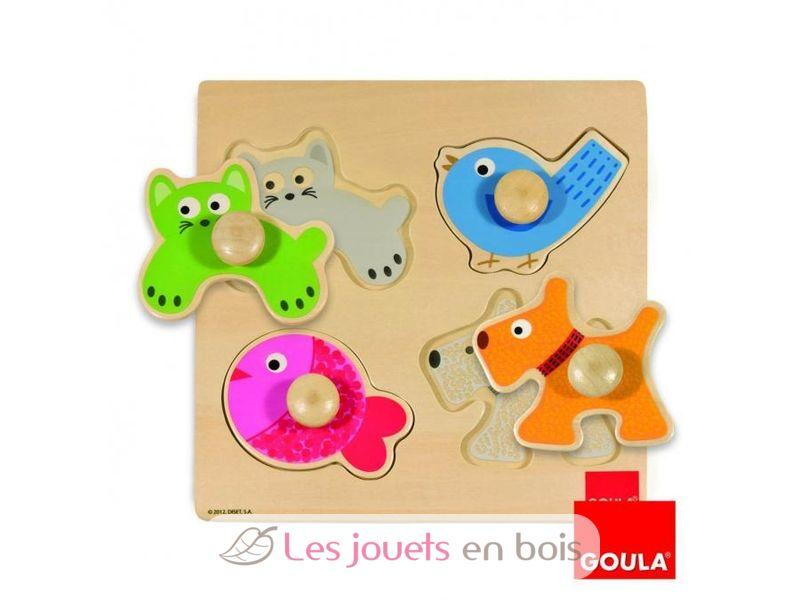 puzzle en bois des animaux domestiques sur ce puzzle 1er ge. Black Bedroom Furniture Sets. Home Design Ideas