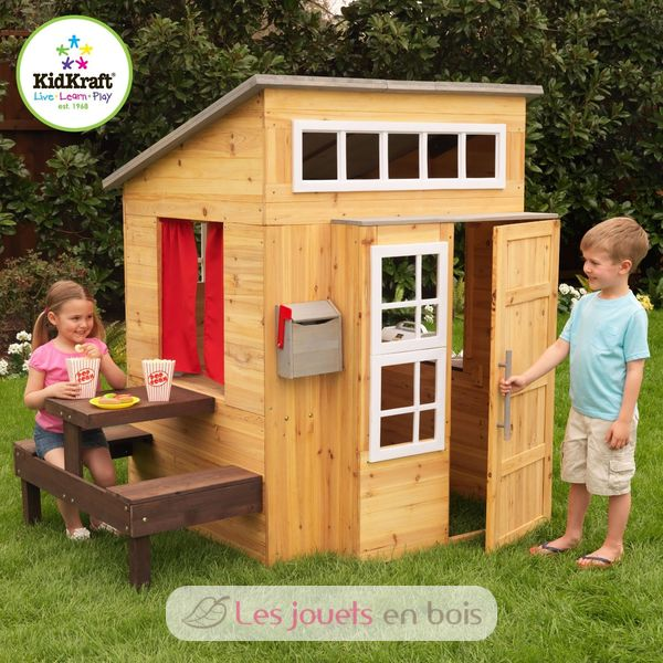 cabane d 39 ext rieur pour enfants kidkraft 00182 mobilier de jardin pour enfant. Black Bedroom Furniture Sets. Home Design Ideas
