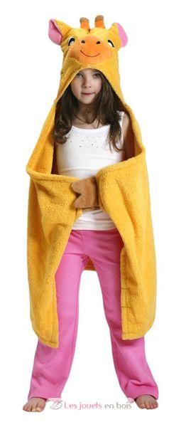 serviette de bain enfant girafe une serviette de bain pour enfant. Black Bedroom Furniture Sets. Home Design Ideas