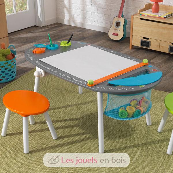 Kidkraft 26956 table dessin avec tabourets pour enfant for Table avec chaise enfant