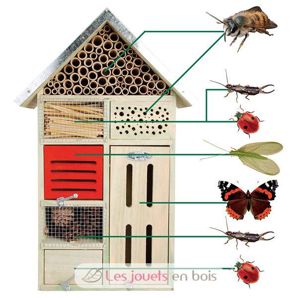h tel insectes un abri en bois pour les insectes. Black Bedroom Furniture Sets. Home Design Ideas